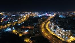 تحسين واجهة المدينة بالتوسع في شبكات الطرق وإنارتها.JPG