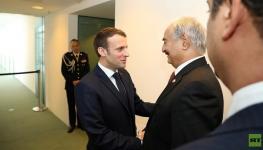 الرئاسة الفرنسيةحفتر ملتزم بتوقيع اتفاق وقف إطلاق نار في ليبيا.jpg