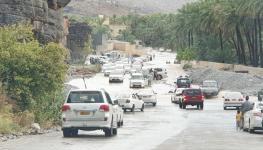 منظر للشارع أثناء حجر الوادي للسيارات.jpg