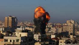 استمرار المعارك على غزة.jpg